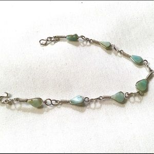 Jewelry - Artisan Larimar and Sterling Silver Bracelet